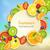 szett · izolált · zöld · gyümölcsök · bogyók · clipart - stock fotó © tandav