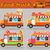 set of vector illustrations food truck stock photo © tandav