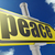 yellow road sign with peace word under blue sky stock photo © tang90246