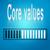 core values blue loading bar stock photo © tang90246