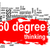 thinking 360 degree word cloud with red banner stock photo © tang90246