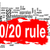 rule 80 20 word cloud with red banner stock photo © tang90246