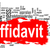 affidavit word cloud with red banner stock photo © tang90246