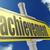 желтый · дорожный · знак · бизнеса · слово · Blue · Sky · изображение - Сток-фото © tang90246