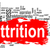 attrition word cloud with red banner stock photo © tang90246
