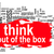 think out of the box word cloud with red banner stock photo © tang90246