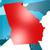 Georgia · mappa · 3D · bandiera · isolato - foto d'archivio © tang90246