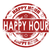 Happy hour grunge retro red isolated ribbon stamp stock photo © tang90246