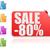 sale 80 label set stock photo © tang90246
