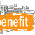 benefit word cloud with yellow banner stock photo © tang90246