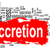 accretion word cloud with red banner stock photo © tang90246