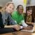 estudantes · estudante · salão · multicultural · estudar · laptop - foto stock © tangducminh