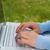laptop · datilografia · ao · ar · livre · mulher · estudar · natureza - foto stock © tangducminh