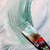 Mixing painting on the canvas and paintbrush stock photo © tannjuska