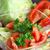 mix of sliced ingredients for vegetable salad stock photo © tannjuska