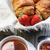 fresco · francês · croissant · tabela · mesa · de · madeira · comida - foto stock © tannjuska