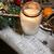 mooie · christmas · krans · decoraties · kaars · licht - stockfoto © tannjuska