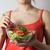 young woman with vegetable salad stock photo © tannjuska