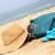 verão · chapéu · de · palha · óculos · de · sol · cachecol · praia - foto stock © tannjuska