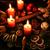 christmas · krans · traditioneel · brandend · kaarsen · brand - stockfoto © tannjuska