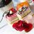 düğün · pastası · dekore · edilmiş · kırmızı · gül · çiçekler · gıda · parti - stok fotoğraf © tannjuska