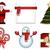 christmas · ingesteld · kerstman · kerstboom · sneeuwpop · geschenkdoos - stockfoto © tanya_ivanchuk