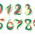 kleurrijk · nummers · drie · kleuren · ontwerp · Rood - stockfoto © tanya_ivanchuk