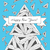 Christmas card made by hand drawn triangles stock photo © tanya_ivanchuk