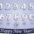 平面 · 番号 · 雪 · 影 · 青 · リボン - ストックフォト © tanya_ivanchuk