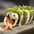 sushis · plaque · noir · cailloux · poissons · fond - photo stock © tarczas