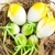 пасхальных · яиц · гнезда · яйцо · зеленый · белый · карт - Сток-фото © tarczas