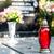 vela · lanterna · pedra · grave · vidro · paz - foto stock © tarczas