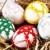 paskalya · yumurtası · yuva · Paskalya · yumurta · yeşil · beyaz - stok fotoğraf © tarczas