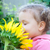 beautiful little girl and sunflower stock photo © tarikvision