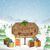 christmas greeting board vector illustration stock photo © tarikvision