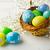azzurro · giallo · verde · easter · eggs · basket · decorato - foto d'archivio © tasipas