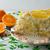 delicious white jelly fruit orange cake stock photo © tasipas