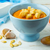Creamy pumpkin soup in a blue bowl  stock photo © TasiPas