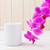 white coffee mug mockup with pink orchid stock photo © tasipas