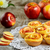alma · muffin · fiatal · nő · választ · egészséges · étel - stock fotó © tasipas