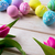 イースター · 活気のある · 描いた · 卵 · グリッター · 紫色 - ストックフォト © tasipas