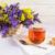 beker · thee · bloemen · oude · houten - stockfoto © tasipas