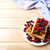 soft belgian waffles with blueberry raspberry and blackcurrant stock photo © tasipas