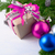 christmas gift box with pink bow and silver ribbon stock photo © tasipas
