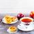 muffinok · alma · fahéj · piros · alma · nyitott · könyv · papír - stock fotó © tasipas