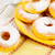 donuts with caster sugar on checkered napkin stock photo © tasipas