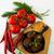frito · almôndegas · ervas · branco · madeira · saúde - foto stock © tasipas