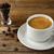 blanche · tasse · fort · matin · café · grains · de · café - photo stock © tasipas