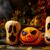 calabaza · de · halloween · oscuro · rústico · halloween · símbolo · fuego - foto stock © TasiPas