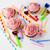 cumpleanos · alimentos · feliz · torta · velas - foto stock © tasipas